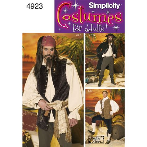 pirate costume patterns on pinterest pattern for men costumes simplicity