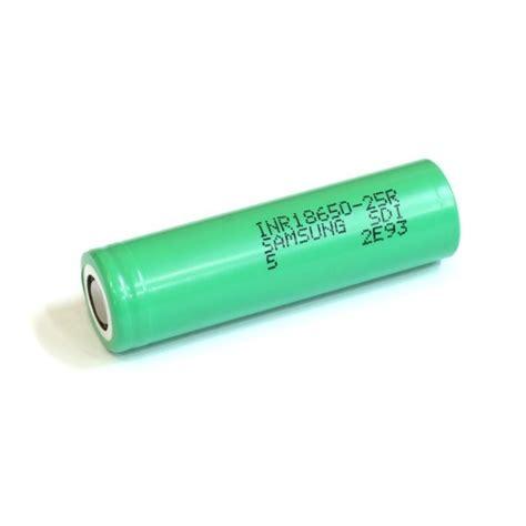 Samsung Inr 18650 25r Li Ion Battery 2500mah 3 7v With Flat Top T3010 2 samsung 25r 18650 30 2500 mah