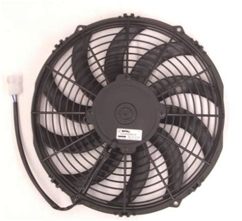 pusher fan vs puller fan spal 16 12v pusher skew blade electric fan speedy air