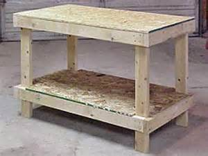 Simple Work Bench Plans How To Build A Simple Wooden Work Bench