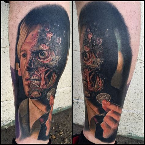 two face tattoos batman two best ideas gallery