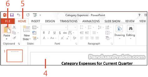 membuat powerpoint dari excel cara menyalin data dan grafik chart ke powerpoint dari