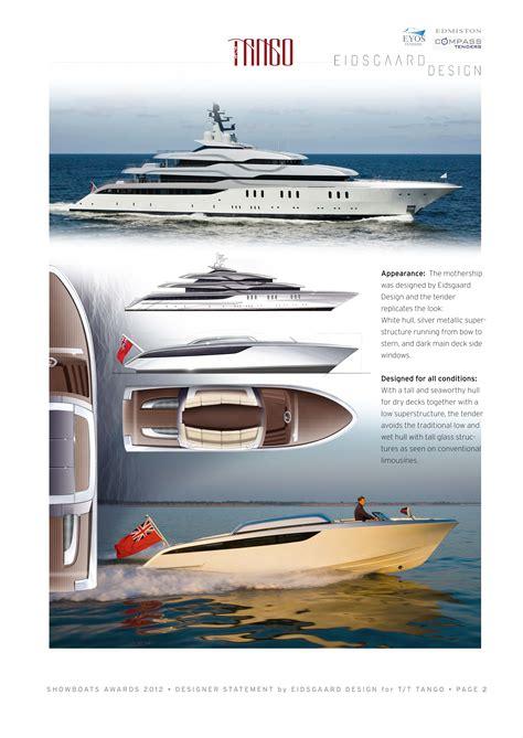 design competition tender limousine tender yacht charter superyacht news