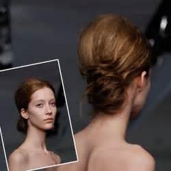 Modern messy low bun wedding hair vera wang wedding hairstyles