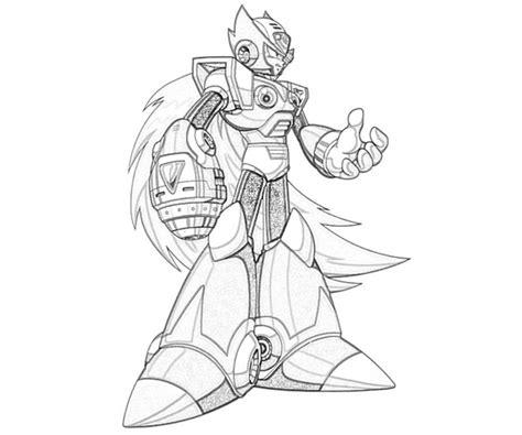 zero mega man coloring page free zero mega man coloring pages
