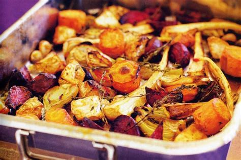 recipe for oven roasted root vegetables roasted root vegetables delia