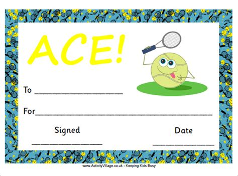 tennis certificate template free sle certificate templates for 9 free documents