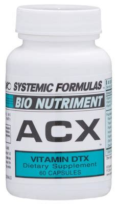 Systemic Formulas Tipps Detox by Acx Vitamin Detox 60 Caps Systemic Formulas