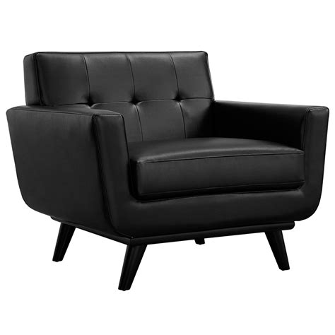 modern black chair empire modern black leather chair eurway furniture