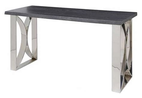 steel console table legs rn 335 console table with stainless steel legs