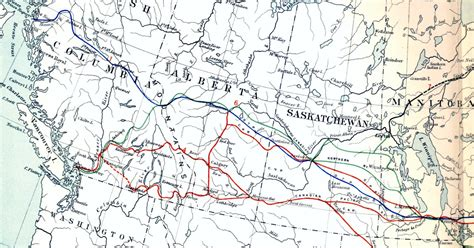 railway map canada historical railroad maps historum history forums