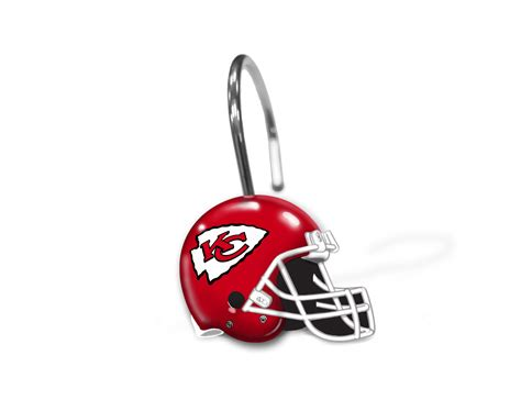 kansas city chiefs nfl shower curtain rings by the