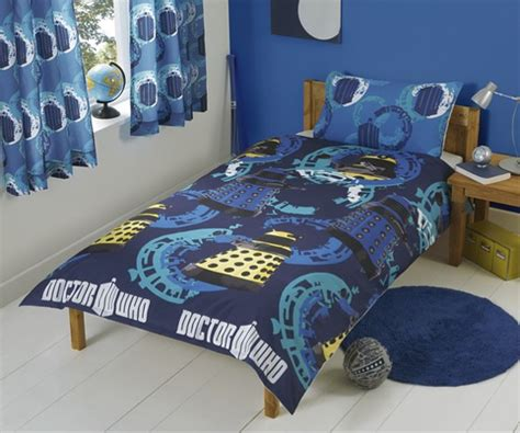 doctor who bedding doctor who single bed duvet curtains merchandise guide