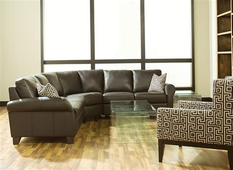 palliser ottawa transitional 3 piece sectional sofa with
