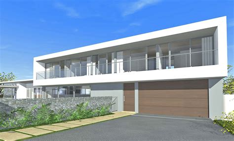 designed houses architect design 3d concept long house seaforth
