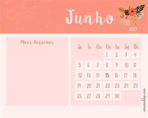 Calendario Junho De 2018 Wallpaper Calend 193 Junho 2017 Emcasablog