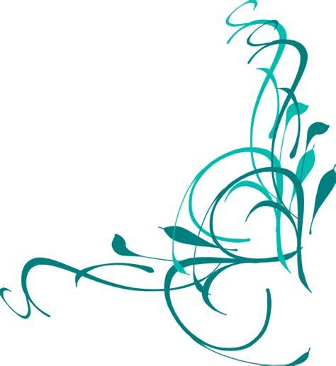 swirl clipart blue flower swirl clip cliparts