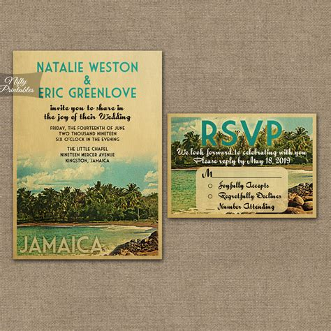 Wedding Invitations Jamaica by Jamaica Wedding Invitations Vtw Nifty Printables