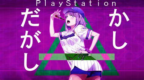 Anime Vaporwave by Wallpaper Vaporwave Anime Dagashi Kashi