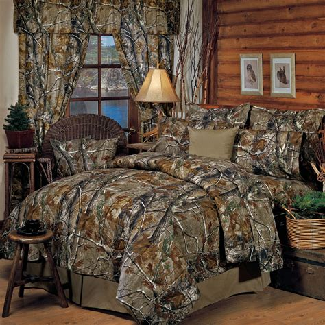 Camouflage Bedroom Set | realtree r rustic camo comforter bedding