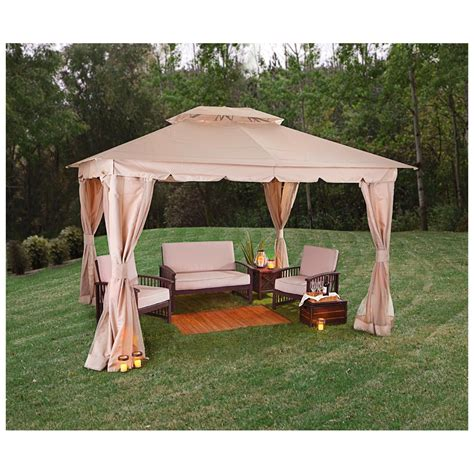 Backyard Gazebos Canopies Castlecreek 10 X12 Double Roof Backyard Gazebo 581600