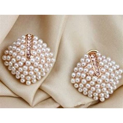 Faux Pearl Earrings faux pearl stud earrings