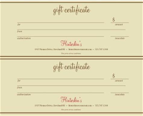 printable restaurant gift vouchers restaurant gift certificate template 2up marketing archive