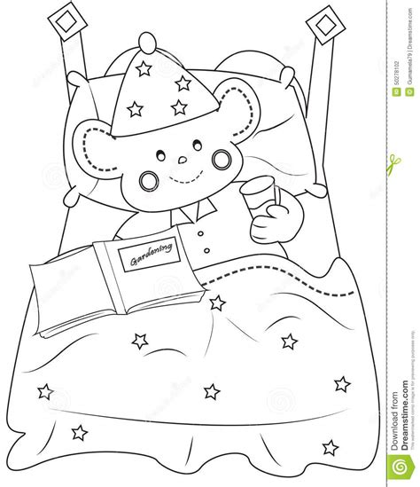 Bedtime Coloring Page Stock Illustration Image 50278102 Bedtime Coloring Pages