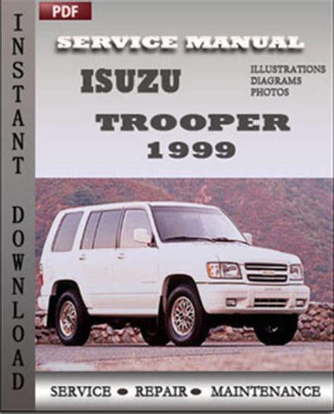 motor repair manual 1999 isuzu hombre parking system isuzu trooper 1999 workshop repair manual repair service manual pdf