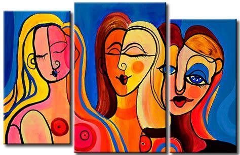 cuadros abstractos de picasso impresion en lienzo las mujeres de picasso retratos