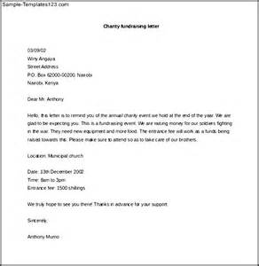 Charity Fundraising Letter Sample download charity fundraising letter template in ms word sample