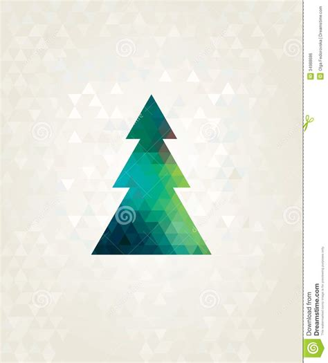 triangle tree tree with colorful triangles stock vector