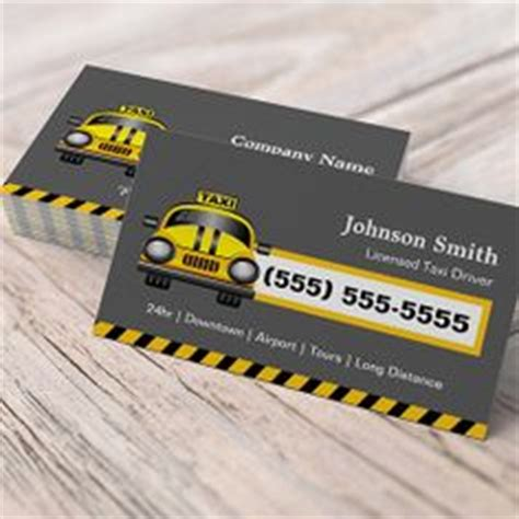 Business Card Template For Taxi Driver by Taxi Business Card Templates On Business Cards