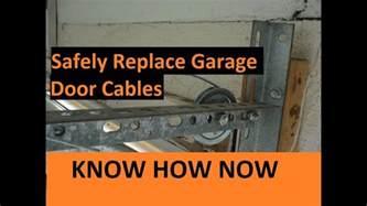broken garage door cable replace broken garage door cable