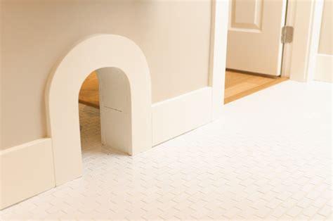 Cat Doors For Interior Doors Installing Small Cat Flap Through Interior Wall