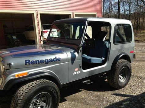 1978 Jeep Renegade Purchase Used 1978 Jeep Cj7 Renegade Sport Utility 2 Door