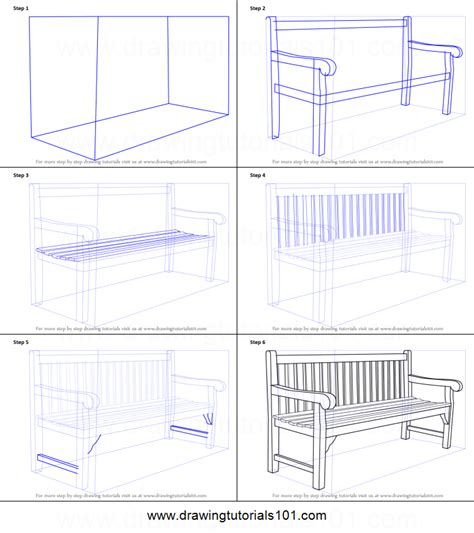 how to bench how to draw a bench printable step by step drawing sheet