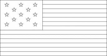 Us State Flag Outlines by 13 United States Flag 1776 Clipart Etc