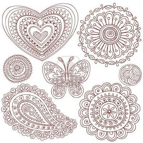 doodle designs free coloring pages of mehndi patterns