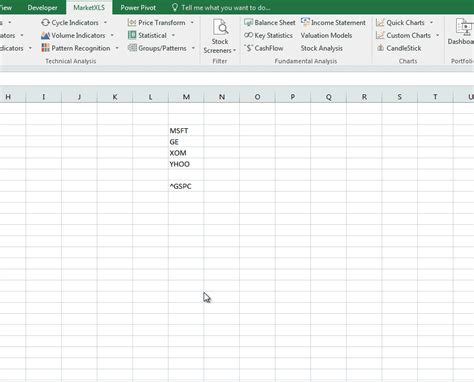 candlestick pattern excel live stock quotes in excel with marketxls formulas 2017