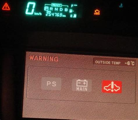 toyota prius warning lights prius 2001 all warning lights are on but car seems to