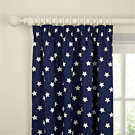 navy star curtains buy little home at john lewis glow in the dark star
