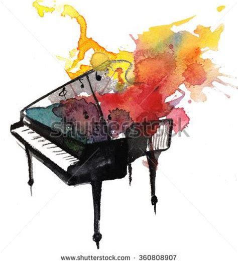 watercolor tattoo new orleans watercolor piano stock photo invites new