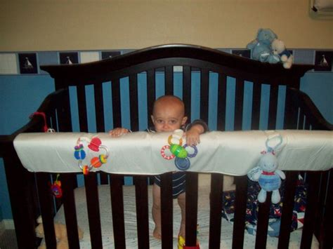 Nice To Have Crib Teething Rail Protector Rookie Moms My Baby Is Chewing On His Crib