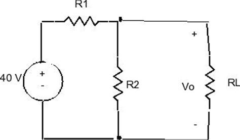 voltage divider with load resistor the no load voltage in the voltage divider r1 and chegg