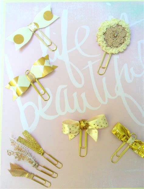 Wedding Paper Clip by Gold Decorative Paper Wedding Planner Supplies Gold