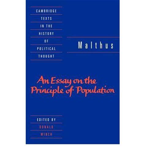 malthus founder of modern demography books malthus an essay on the principle of population t r