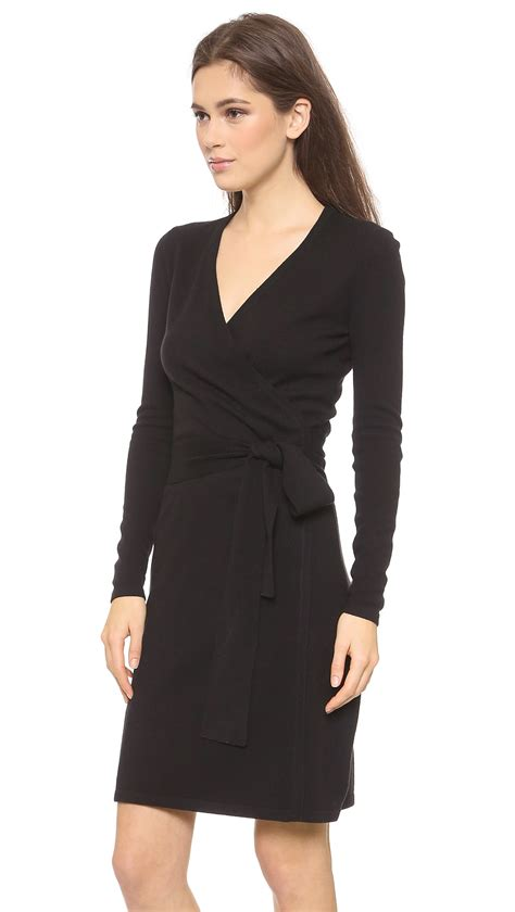Dress Vonny Black lyst diane furstenberg wrap sweater dress