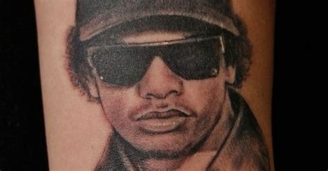 eazy e tattoo design eazy e portrait tattoo nwa compton blackandgrey
