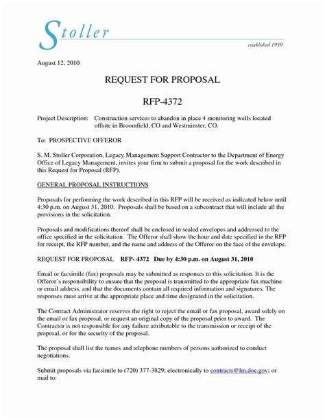 Free Sample Rfp Response Cover Letters Best Of Business Proposal